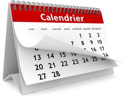 calendrier école du chien